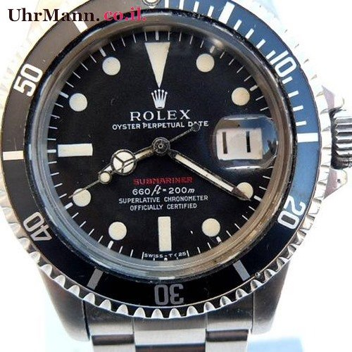 שעון יד Rolex Submariner ref.1680.Red printing 2